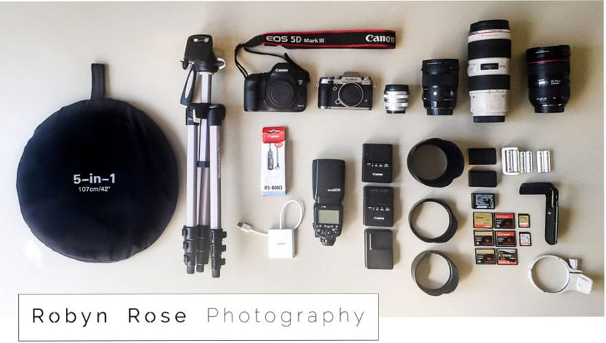 Photographer Photo Gear, what is in my camera bag